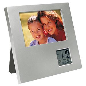 Porta-Retrato c/Reloj Digital