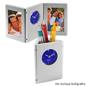Porta-Lapices con Reloj