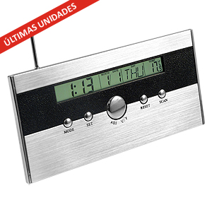 FM auto-scan Radio Reloj