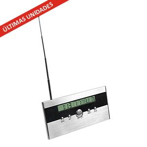 FM auto-scan Radio Reloj 4