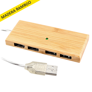 HUB 4 puertos USB Bamboo