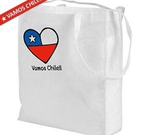 Vamos Chile Shopping Bag 40 x 32 x 12 cm.