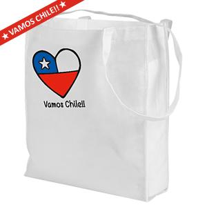 Vamos Chile Shopping Bag 40 x 32 x 12 cm.