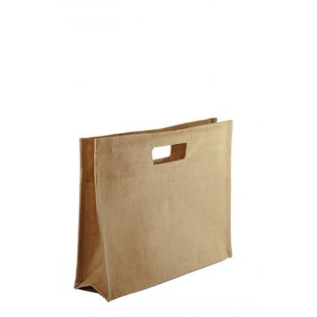 Bolsa de yute BJ05C. 35 cm de alto, 40 cm de ancho y 15 cm de fuelle.