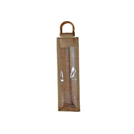 Bolsa de yute WBJ01C 35 cm de alto, 10 cm de ancho y 10 cm de fuelle