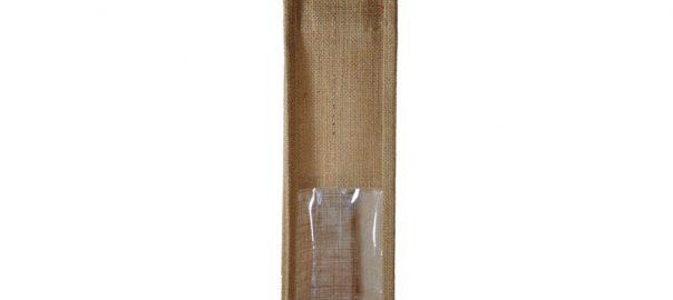 Bolsa de yute WBJ02C 35 cm de alto, 10 cm de ancho y 10 cm de fuelle.