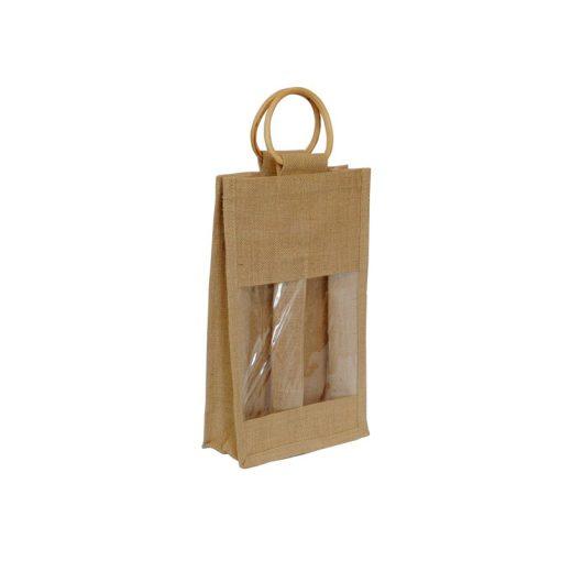 Bolsa de yute WBJ011C 35 cm de alto, 20 cm de ancho y 10 cm de fuelle