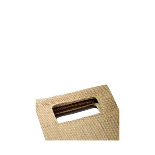 Bolsa de yute WBJ04C 38 cm de alto, 10 cm de ancho y 10 cm de fuelle