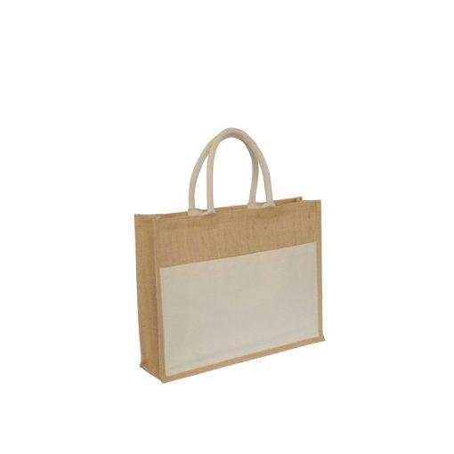 Bolsa de yute 100% biodegradable y reutilizable. 35 cm de alto, 40 cm de ancho y 17 cm de fuelle.