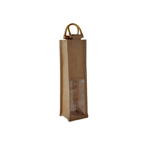 Bolsa de yute WBJ02C 35 cm de alto, 10 cm de ancho y 10 cm de fuelle