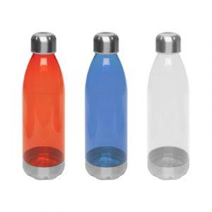 botella con logo