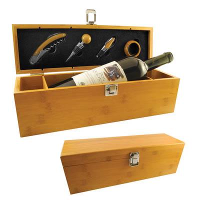 caja de vino bamboo
